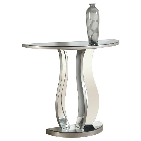 """Console Table - 36""""L - Brushed Silver - EveryRoom - image 1 of 2"""