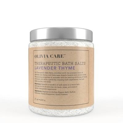 Olivia Care Bath Salt - Lavender Thyme - 21oz