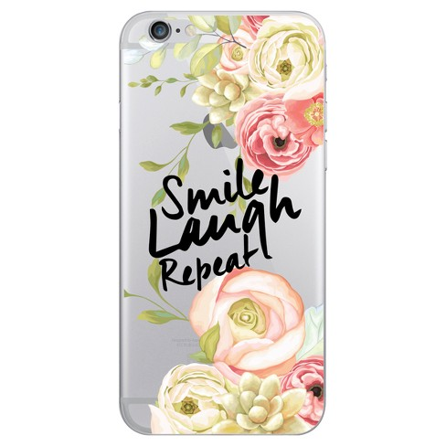OTM Essentials Apple iPhone 8/7/6s/6 Hybrid Clear Case - Smile Laugh Repeat - image 1 of 1