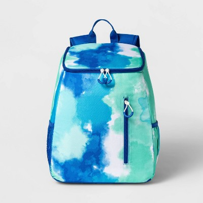 14.4qt Backpack Cooler Tie Dye Blue - Sun Squad™