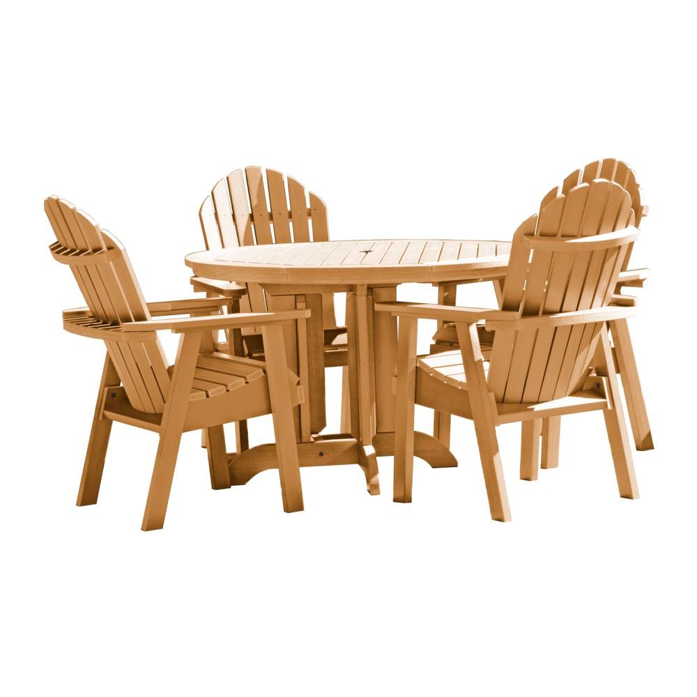 Hamilton 5pc Round Dining Set Toffee - Highwood