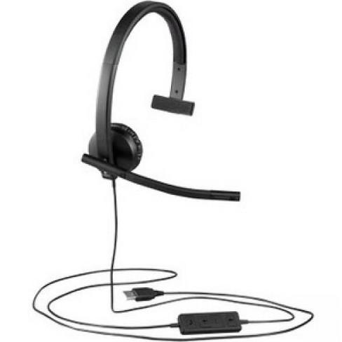 Logitech USB Headset Mono H570e - Mono - USB - Wired - 31.50 Hz - 20 kHz - Over-the-head - Monaural - Supra-aural - image 1 of 3