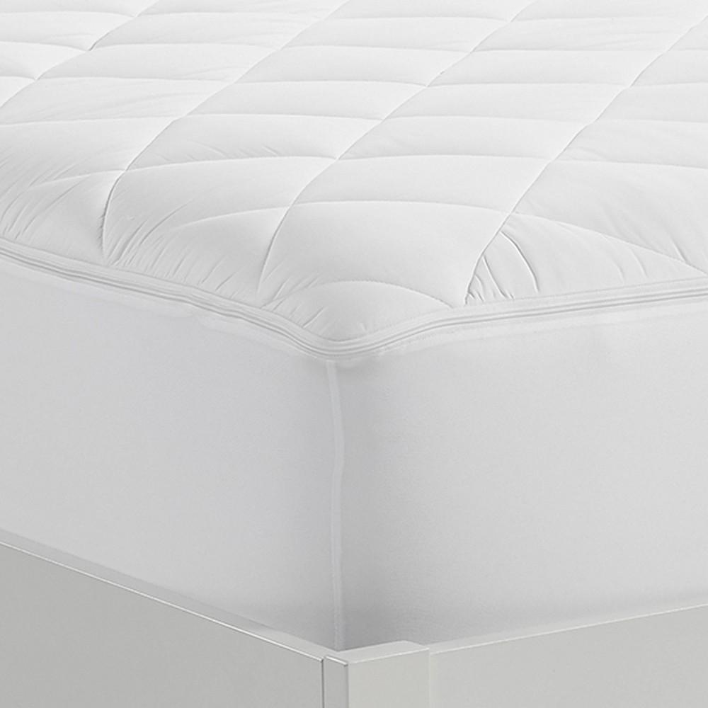 Image of California King Cooling Extra Comfort Mattress Pad - Serta, White