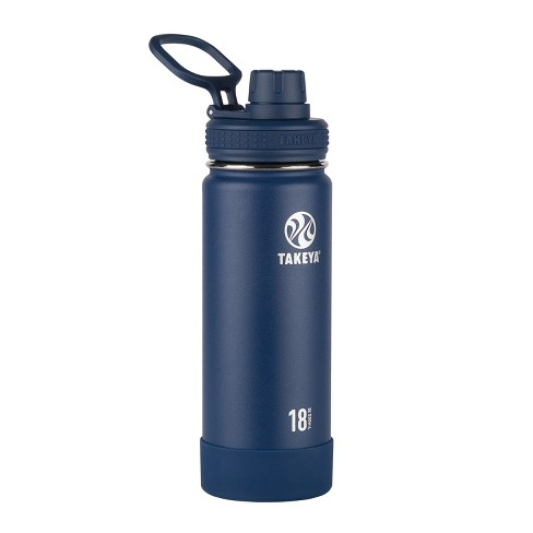 Takeya Actives 18oz Insulated Stainless Steel Water Bottle - Navy - image 1 of 5