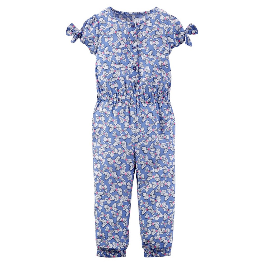 Image of Toddler Girls' Jumpsuit - Just One You Made by Carter's Blue Print 3T, Periwinkle Blue