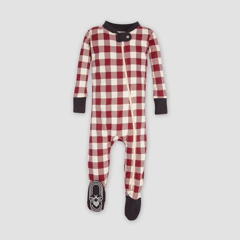 85383ec196 Burt s Bees Baby® Organic Cotton Buffalo Check Footed Pajama - Cranberry