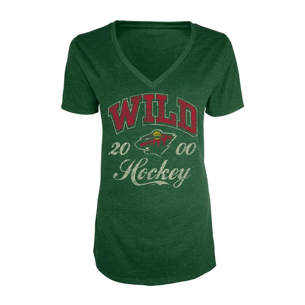 Minnesota Wild Women's Short Sleeve Heathered T-Shirt - XL