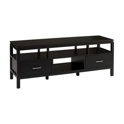 Sutton Black Plasma TV Center Black - Linon