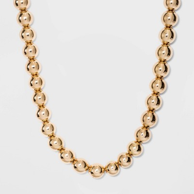 SUGARFIX by BaubleBar Gold Bead Statement Necklace - Gold