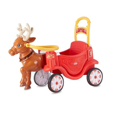 Little Tikes Reindeer Carriage Festive Holiday Ride-On - Red