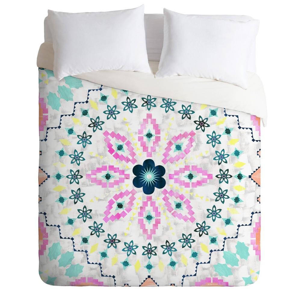King Schatzi Brown Aviana Mandala Duvet Cover Set - Deny Designs, Multicolored