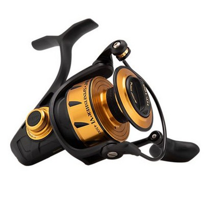 Penn SSVI4500 Spinfisher VI Sealed Body and Spool Right or Left-Handed Spinning Saltwater Freshwater Fishing Reel, Black Gold