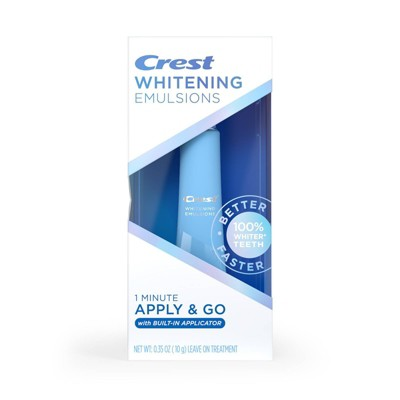 Crest Whitening Emulsions On-the-Go Leave-on Teeth Whitening with Built-In Applicator - 0.35oz