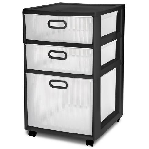 Sterilite Ultra 3 Drawer Storage Cart Black - image 1 of 4