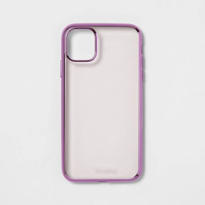 heyday™ Apple iPhone Clear Case with Bumper Frame - Rose Gold