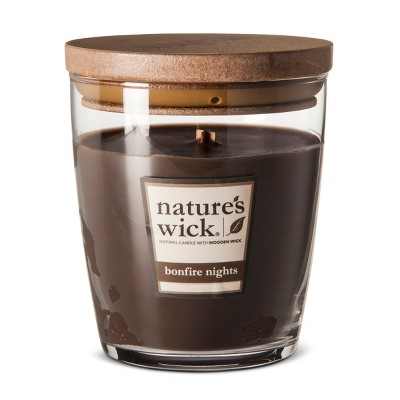 10oz Glass Jar Candle Bonfire Nights - Nature's Wick