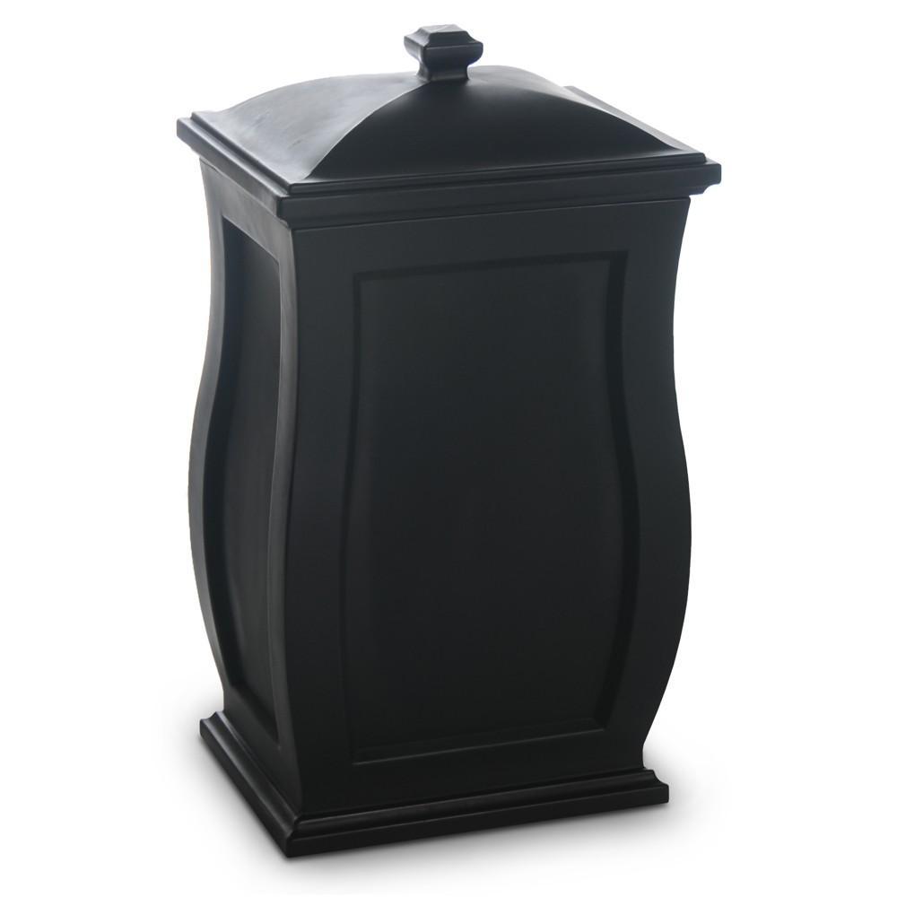 "Image of ""32"""" Mansfield Garden Storage Box Black - Mayne"""