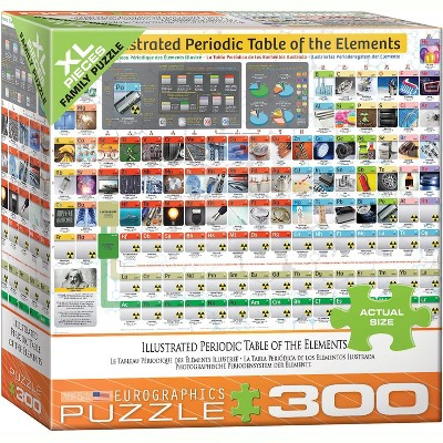 Eurographics Inc. Illustrated Periodic Table of Elements 300 Piece XL Jigsaw Puzzle