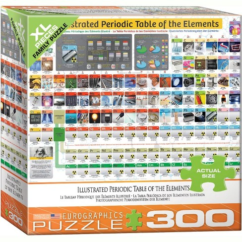 Eurographics Inc. Illustrated Periodic Table of Elements 300 Piece XL Jigsaw Puzzle - image 1 of 4