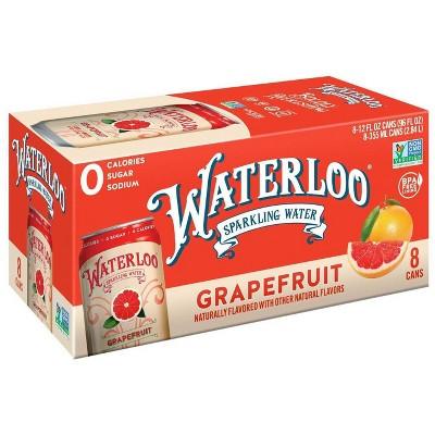 Waterloo Grapefruit Sparkling Water - 8pk/12 fl oz Cans