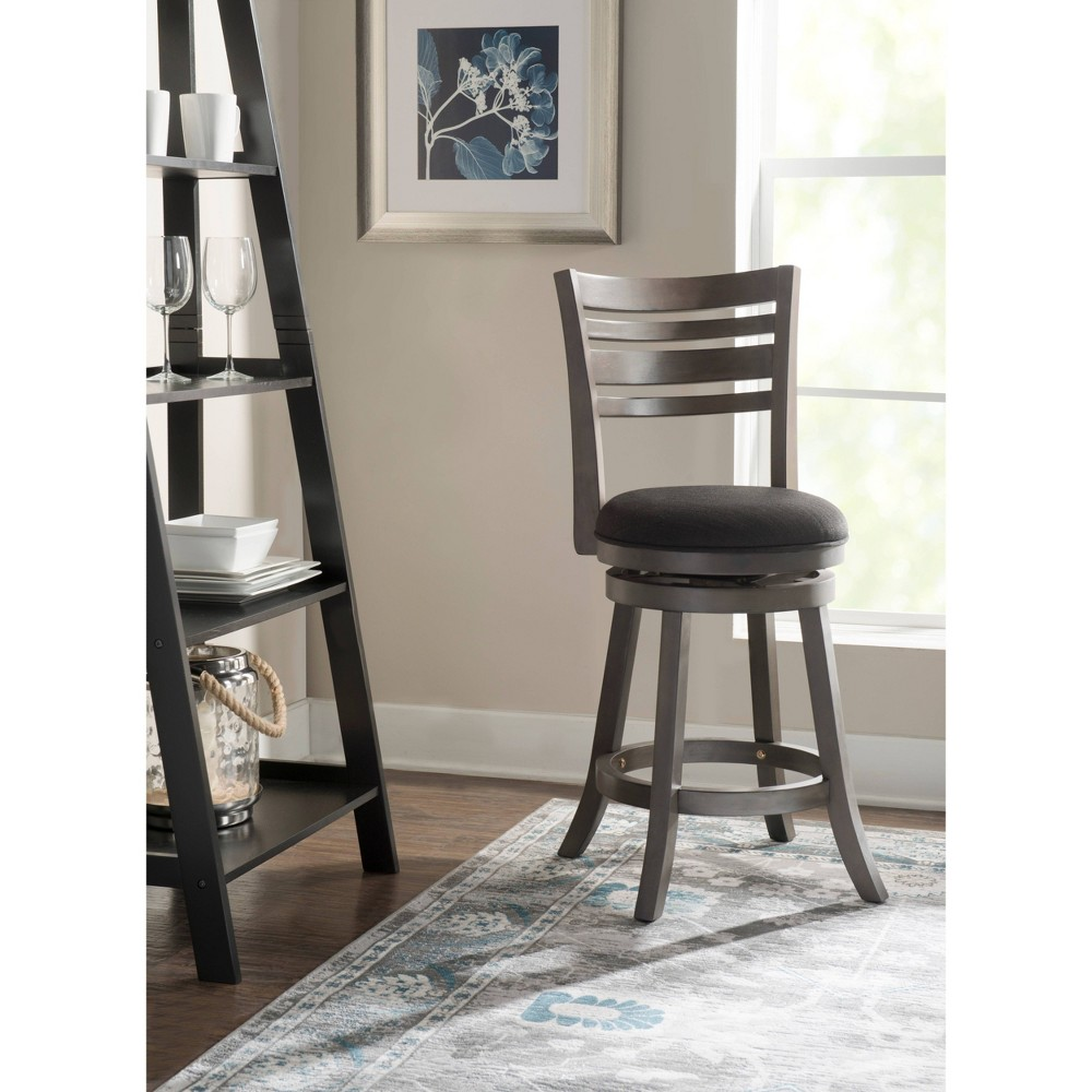 "Image of ""24"""" Buxton Swivel Counter Stool Gray - Powell Company"""