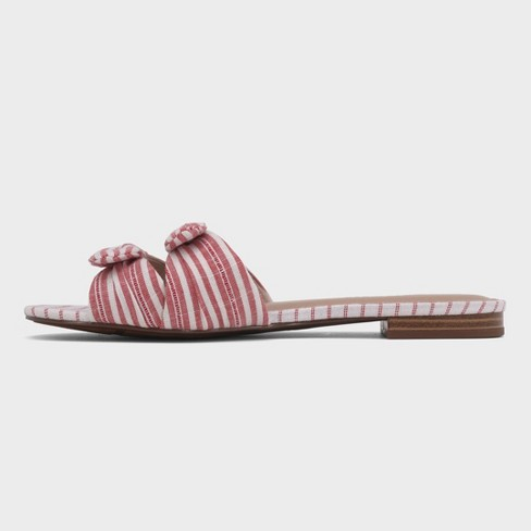 0521dec6a Women s Florence Striped Bow Slide Sandals - Who What Wear™   Target