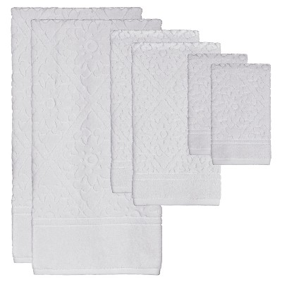 Belle Bath Towel 6pc Set White - Creative Bath®