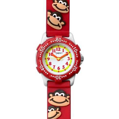 Boys' Fusion Monkey Watch - Red - image 1 of 2