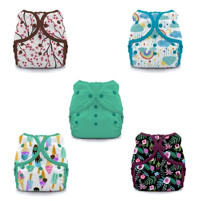Thirsties   Duo Wrap Snap Reusable Diaper Cover Pack of 5