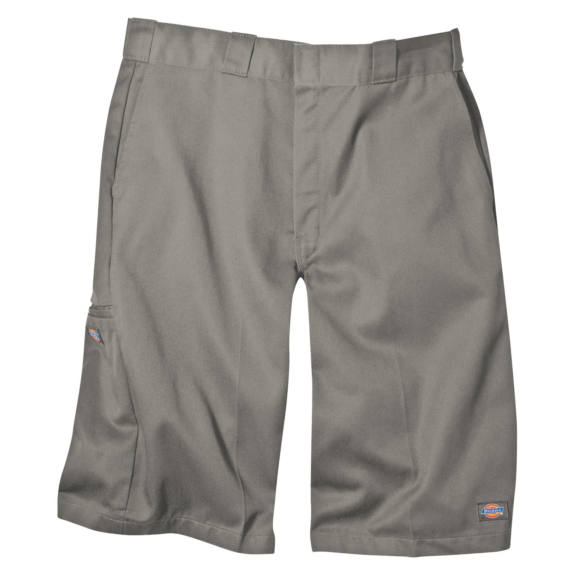 'Dickies Men's Loose Fit Twill 13'' Multi-Pocket Work Shorts- Silver Gray 42'