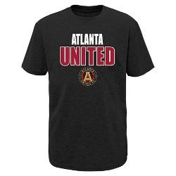 MLS Boys Short Sleeve Black Poly T-Shirt Atlanta United FC