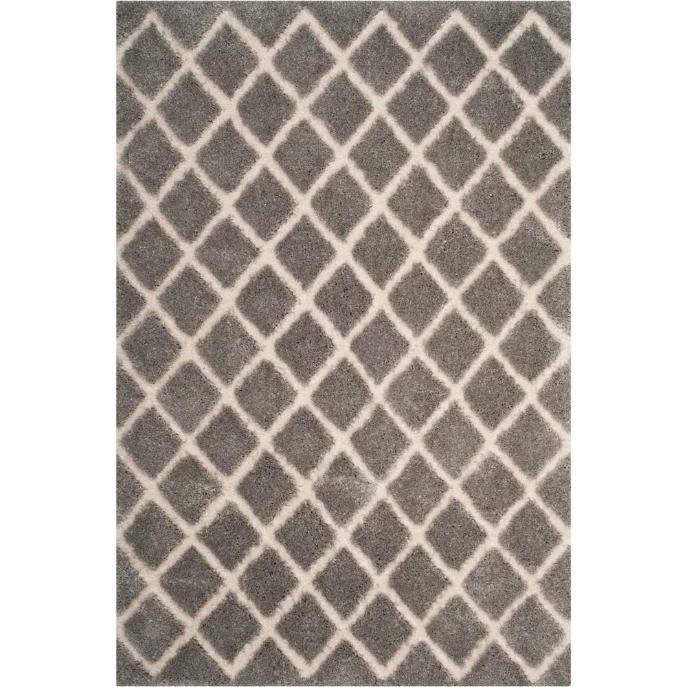 8'X10' Crosshatch Loomed Area Rug Light Gray/Cream (Light Gray/Ivory) - Safavieh