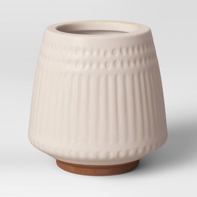 Textured Ceramic Planter White - Opalhouse™