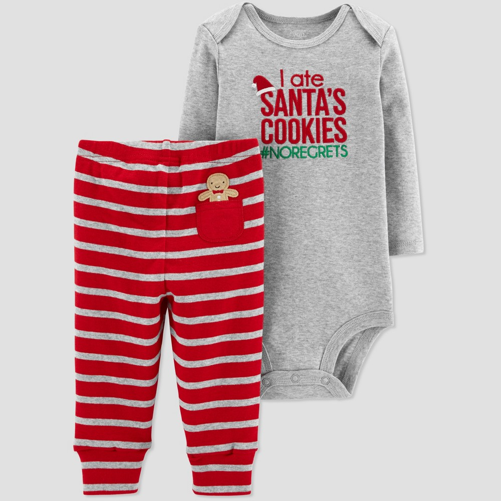 Baby Boys' Santa's Cookies 2pc Set - Just One You made by carter's Red 9M