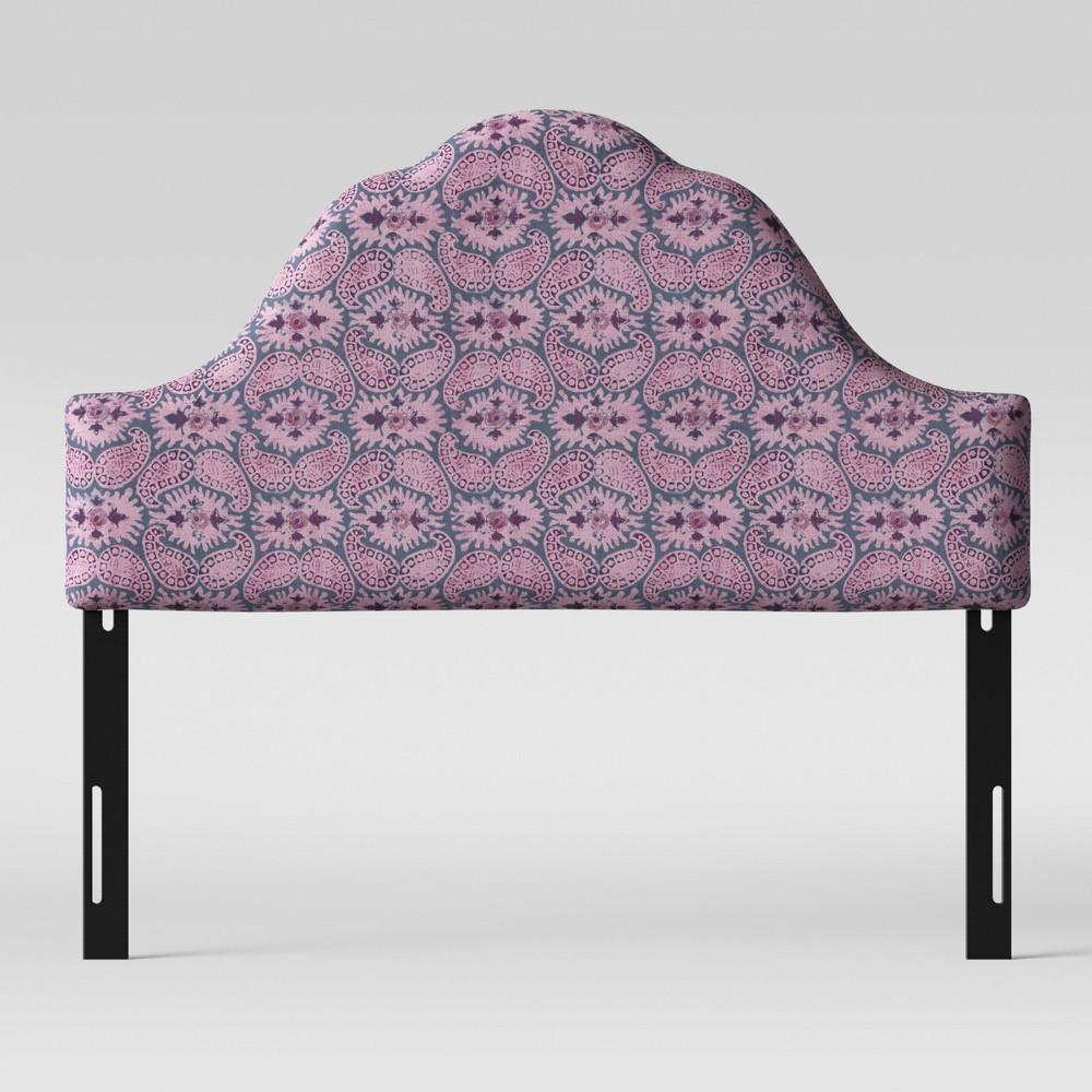 Twin Zinnia Arched Headboard Purple Paisley - Opalhouse