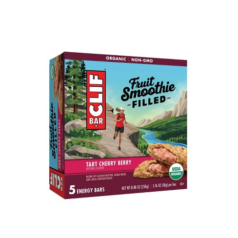 CLIF Bar Fruit Smoothie Filled Tart Cherry Berry Energy Bars - 5ct - image 1 of 4
