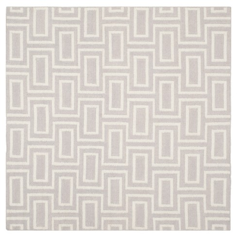 Montauk Flat Weave Wool Rug Gray