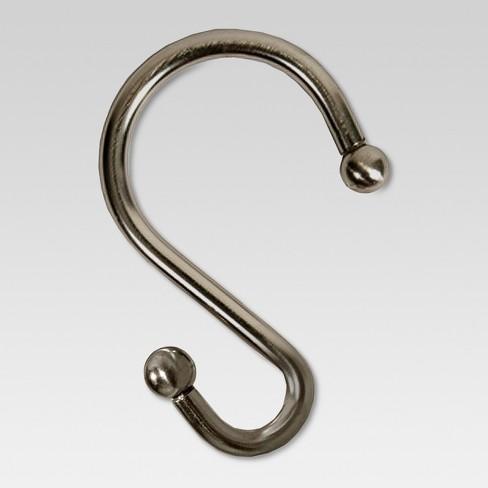 S Shape Shower Hooks Oil Rubbed Bronze
