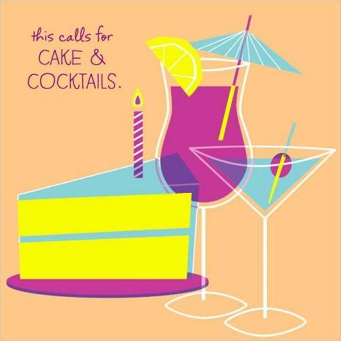 Wondrous Cake And Cocktail Birthday Card Target Personalised Birthday Cards Beptaeletsinfo