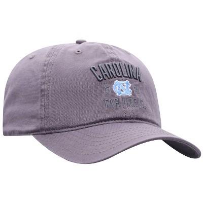 NCAA North Carolina Tar Heels Men's Skill Gray Garment Washed Canvas Hat