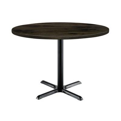 "36"" Urban Loft Round Top Breakroom Table X Base Standard Height - KFI Studios"
