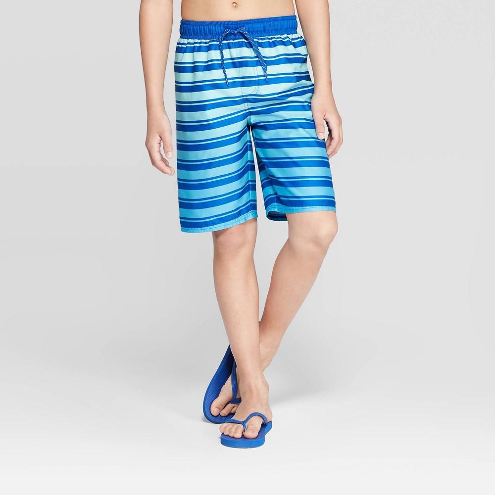 047d87ad764f5 Sea Life Co Boys Striped Swim Trunks Blue XL