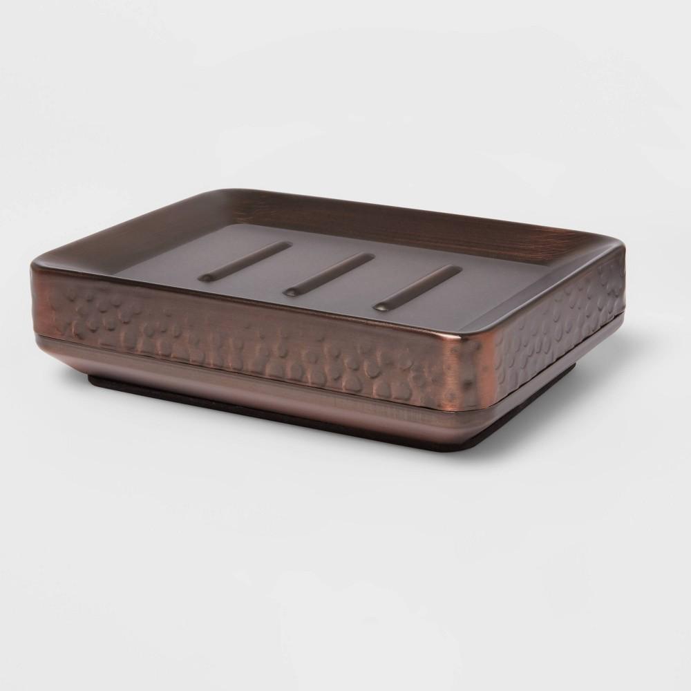 Soap Dish Hammered Copper Threshold 8482