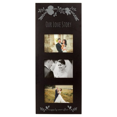 Black/Silver Floral Multi Picture Frame