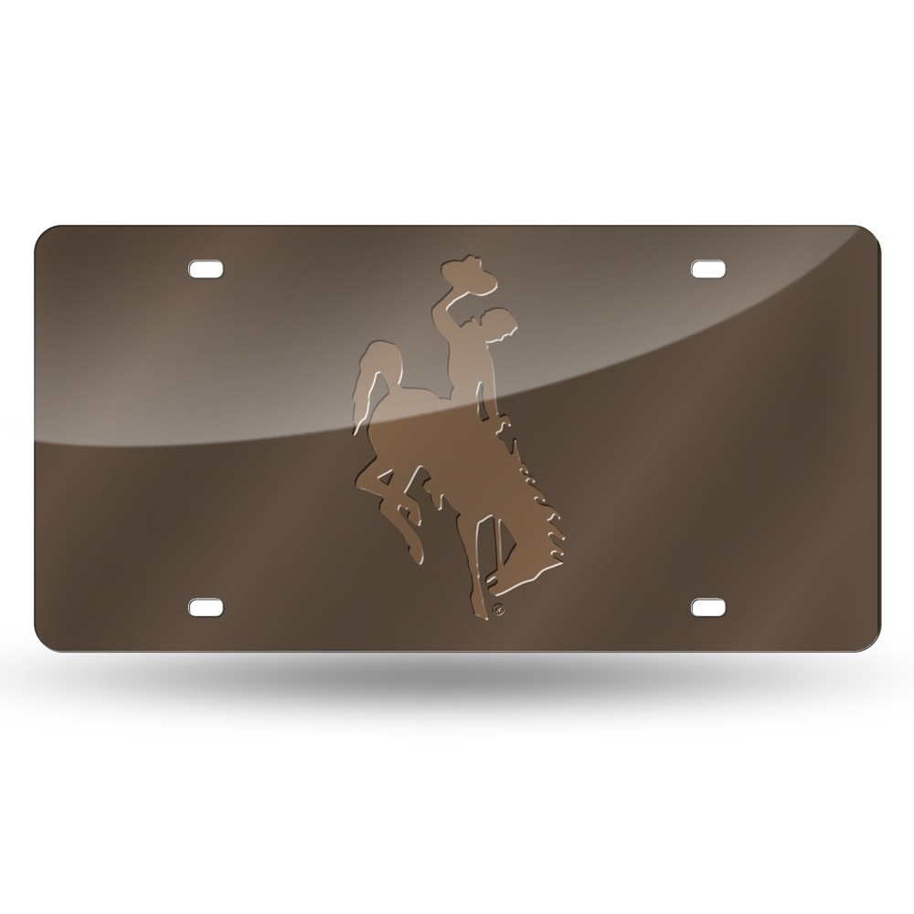 Wyoming Cowboys Rico Industries Laser Cut Auto Tag