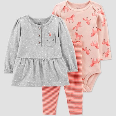 Baby Girls' Unicorn Top & Bottom Set - Just One You® made by carter's Pink 3M