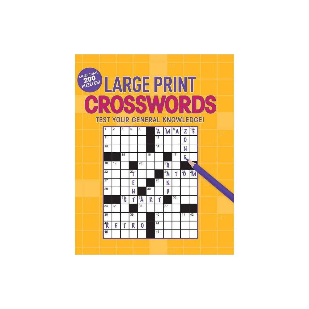 Large Print Crosswords Large Print Puzzle Books Paperback