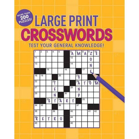 Large Print Crosswords - (Paperback) - image 1 of 1