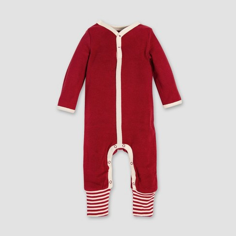 df5cbb4dd Burt s Bees Baby Organic Cotton Thermal Candy Cane Stripe Coverall ...