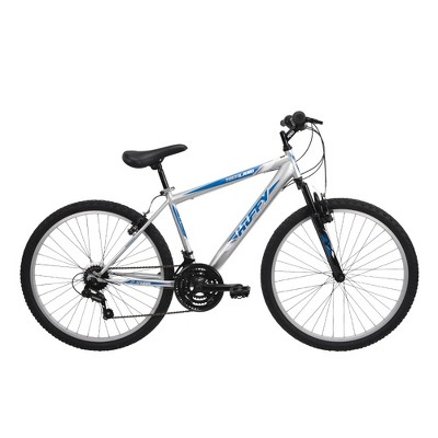 "Huffy Men's Highland 26"" Mountain Bike - Silver/Blue"